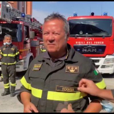 Foggia, presentato il nuovo comandante dei Vigili del Fuoco