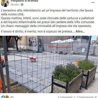 Monte Sant'Angelo, minacce al sindaco antimafia, Pierpaolo d'Arienzo