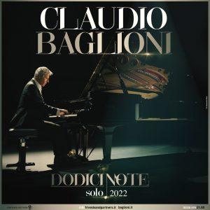 """Claudio Baglioni, ritorno alla musica dal vivo con """"Dodici note"""""""