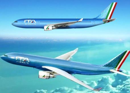 Ita Airways, decolla la nuova compagnia di bandiera: avrà aerei azzurri con coda tricolore